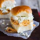 Slider Sized Sandwiches with Buffalo Chicken