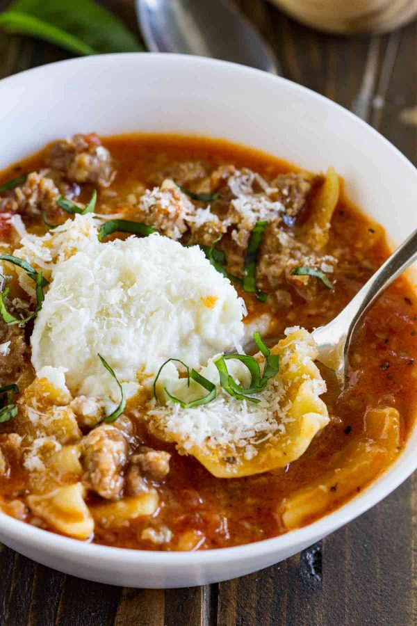Lasagna Soup with Ricotta
