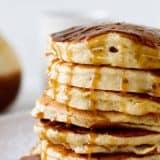 Apple Pancakes on a Plate