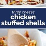 Three Cheese Chicken Stuffed Shells
