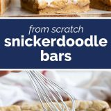 Homemade Snickerdoodle Bars
