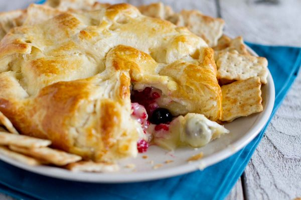 How to Make Berry Stuffed Brie en Croute