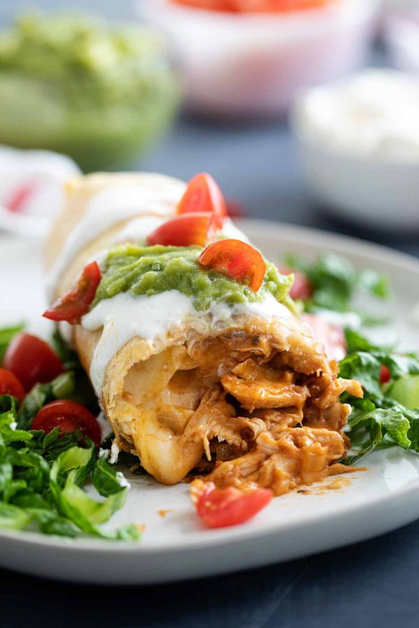 how to make chicken chimichangas