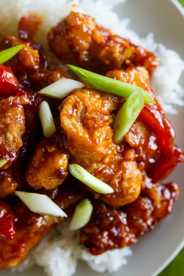 chinese chicken with a sweet sauce