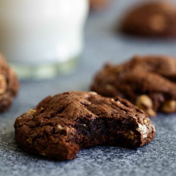 fudgy center of Chocolate Peanut Butter Cookies