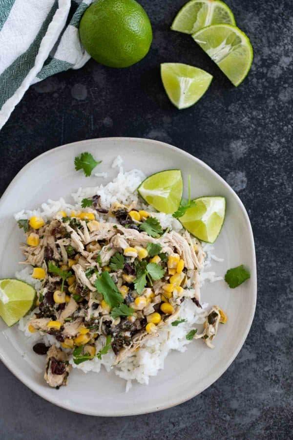 cilantro lime chicken over rice