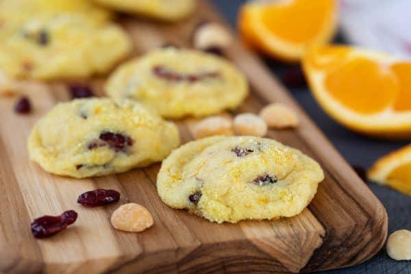 cookies with cranberries and orange