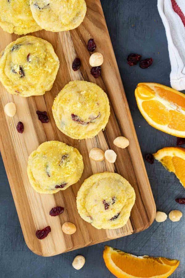 Cranberry Orange Cookies with Macadamia Nuts