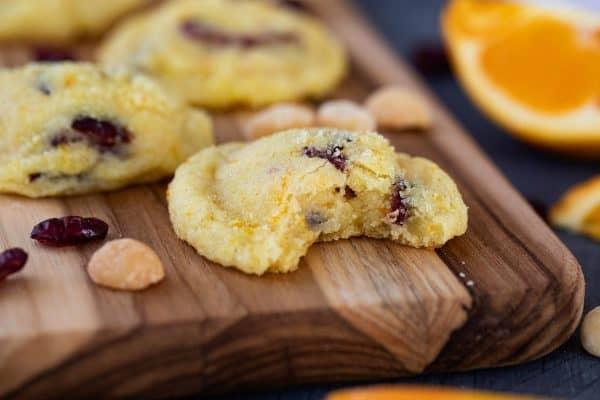 Texture of Cranberry Orange Cookies