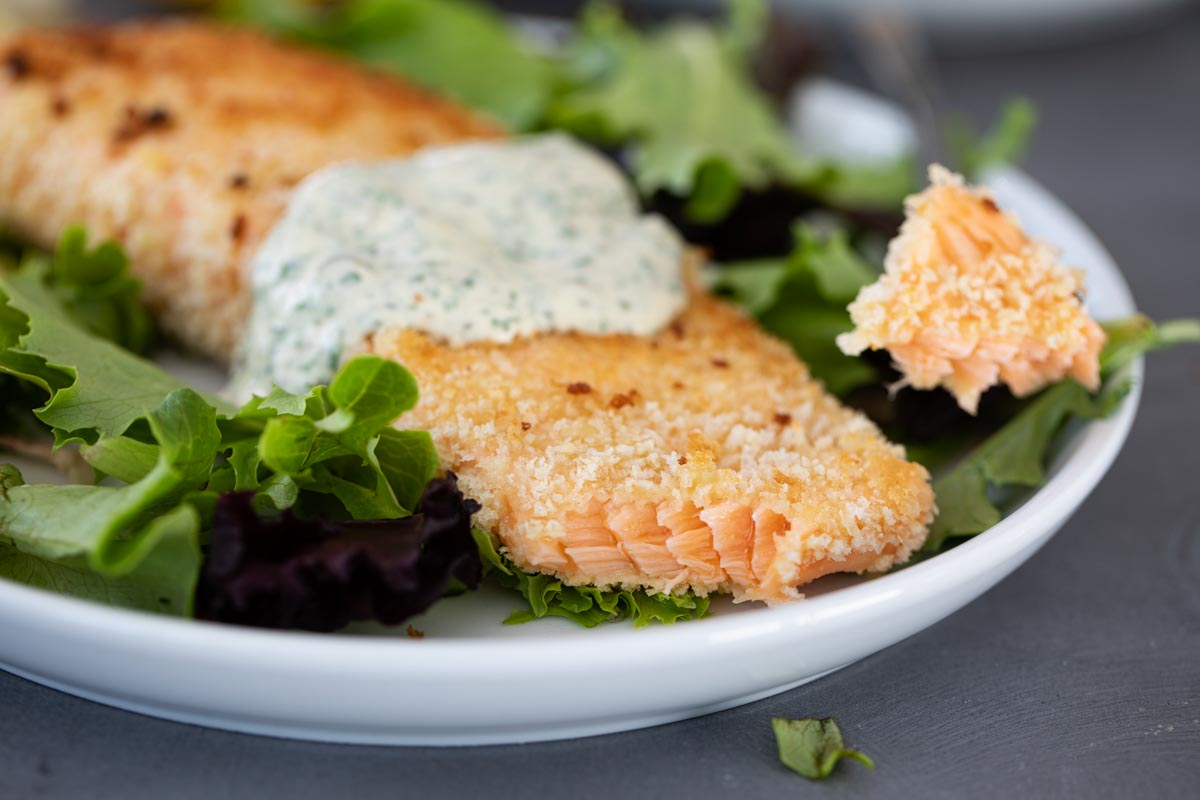 texture of pan fried salmon