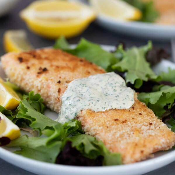 pan fried salmon with panko