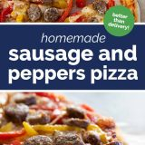How to make Homemade Sausage and Peppers Pizza