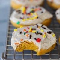texture of Soft Pumpkin Sugar Cookies with Maple Cinnamon Buttercream