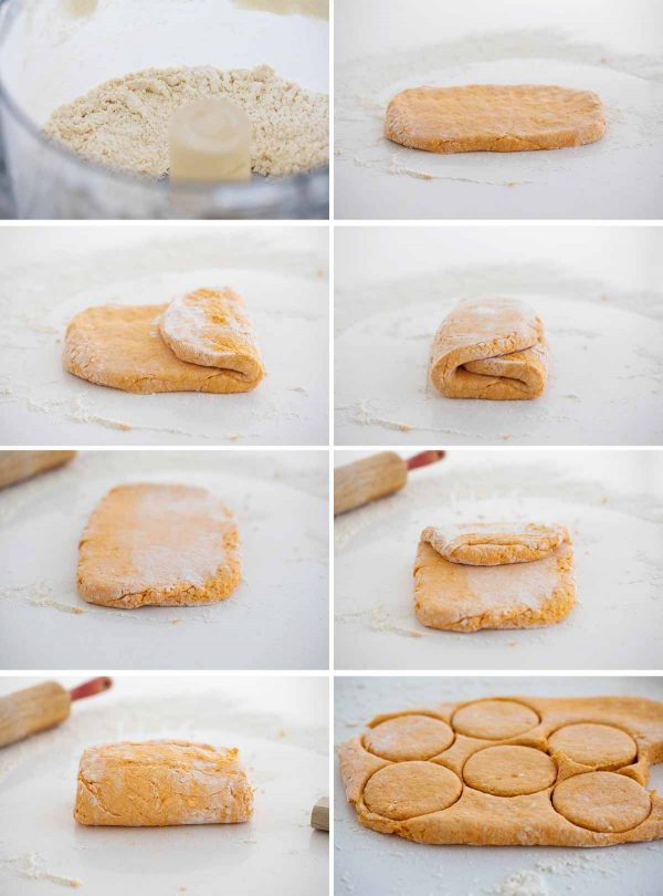 how to fold biscuit dough