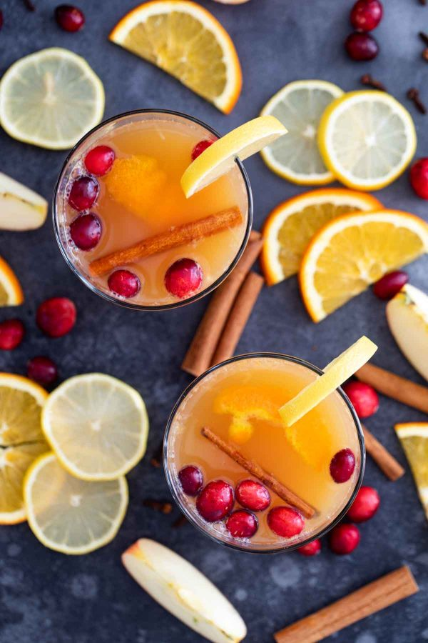 Hot Apple Cider with Citrus