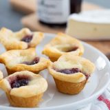 Raspberry Jam and Brie in Crescent Cups