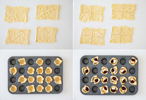 How to Make Crescent Raspberry Brie Bites