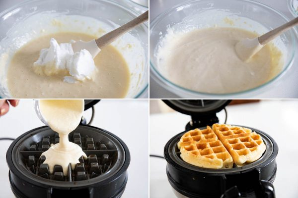 making light and fluffy waffles