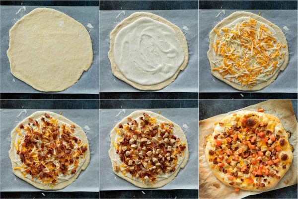 Toppings for chicken bacon ranch pizza