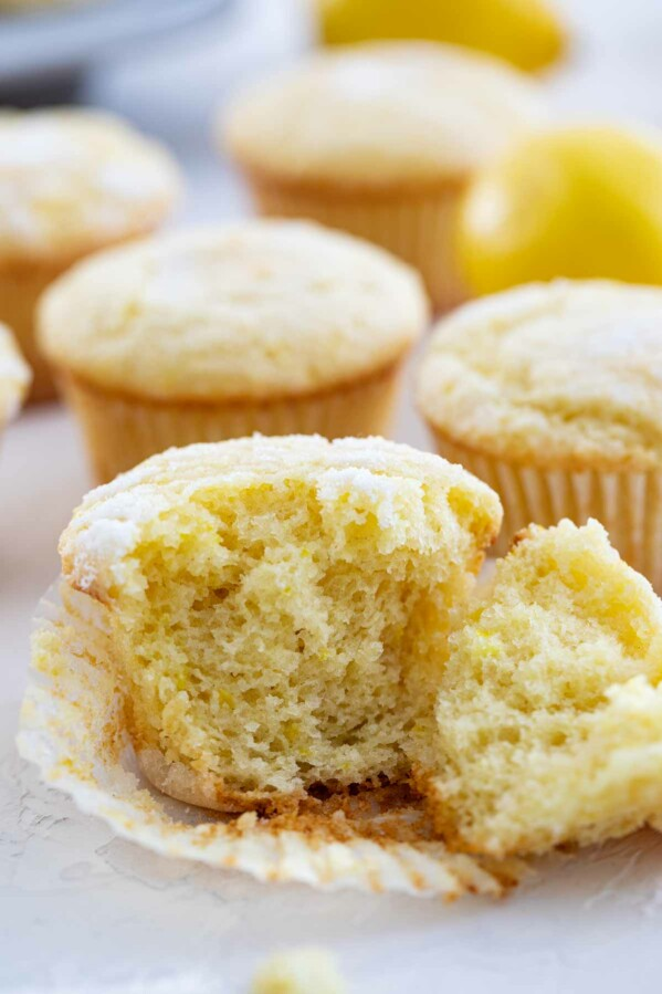 soft and tender muffin texture