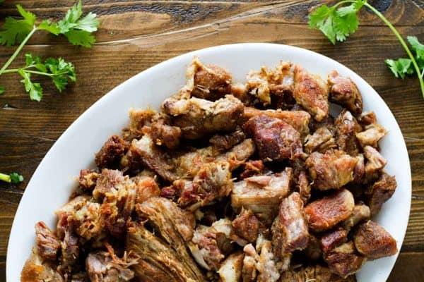 Plate of Pork Carnitas