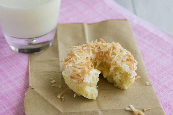 texture of Baked Coconut Donuts