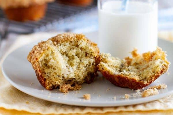 Texture of Banana Crumb Muffins