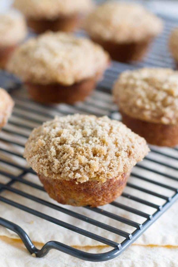 Baked Banana Crumb Muffins