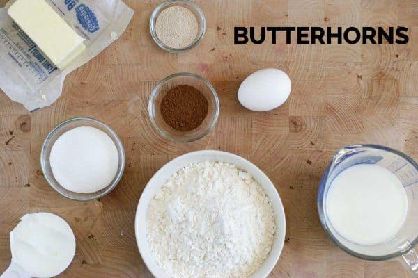Ingredients for Butterhorns