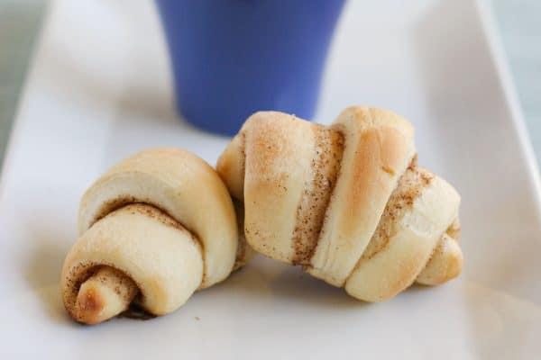 Butterhorns with cinnamon