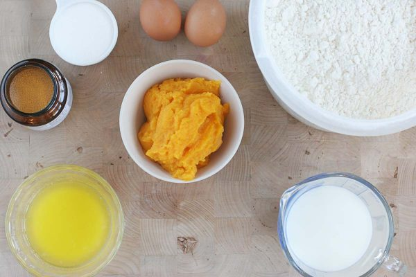 Ingredients for Butternut Squash Bread