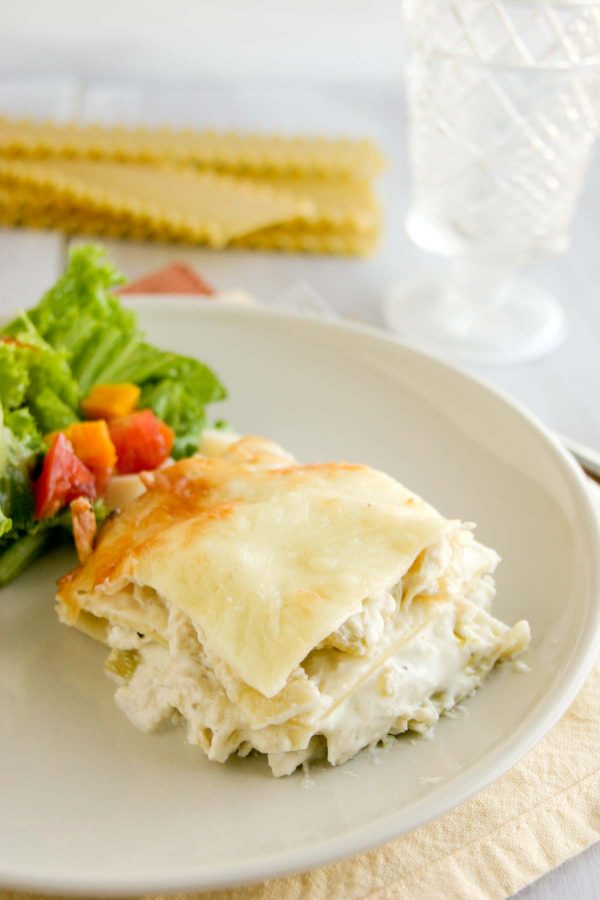 Cheesy Chicken and Green Chile Lasagna