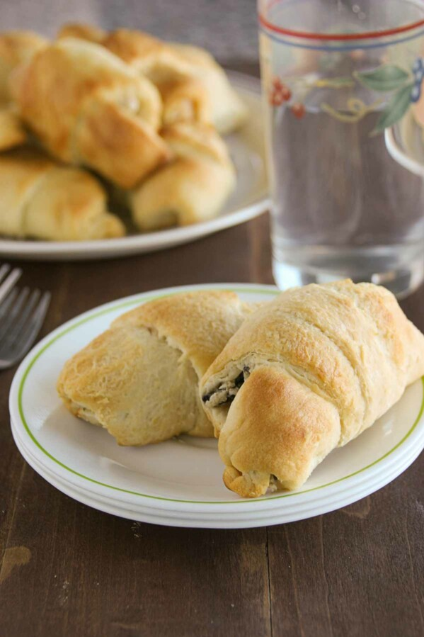 Chicken Stuffed Crescents on a plate