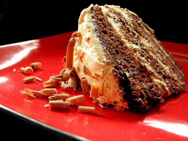 Chocolate Layer Cake with Brown Sugar Cream Cheese Frosting