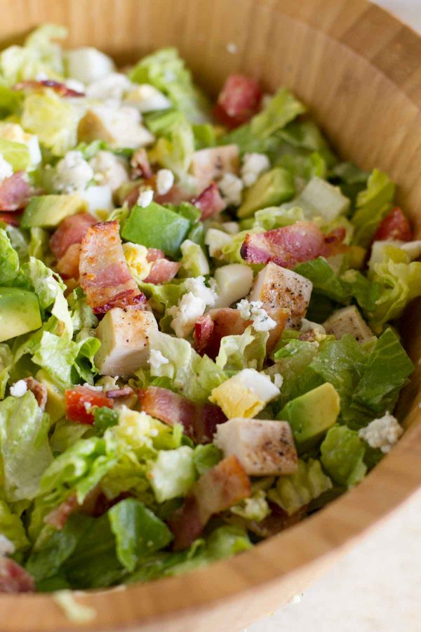 bowl of chopped cobb salad