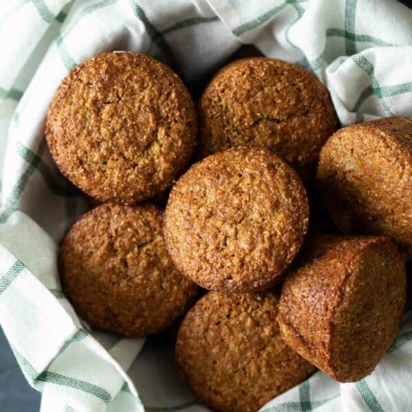 basket of bran muffins