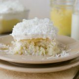 Poke Cake with Lemon and Coconut