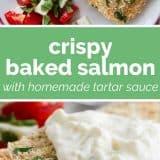 How to Make Crispy Baked Salmon with Homemade Tartar Sauce