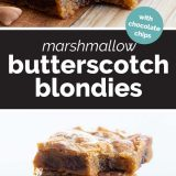 How to Make Marshmallow Butterscotch Blondies