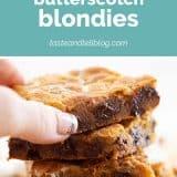 Marshmallow Butterscotch Blondies Recipe