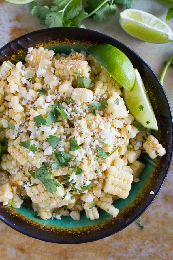 grilled corn salad with cotija