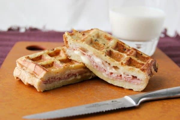 Monte Cristo Sandwiches in the Waffle Maker