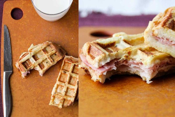 Making Monte Cristos with waffles