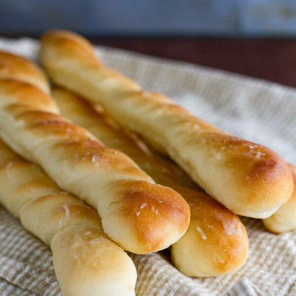 Stack of Parmesan Breadsticks