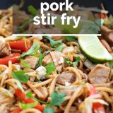 Recipe for Pork Stir Fry