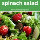 How to Make a Red Raspberry Spinach Salad