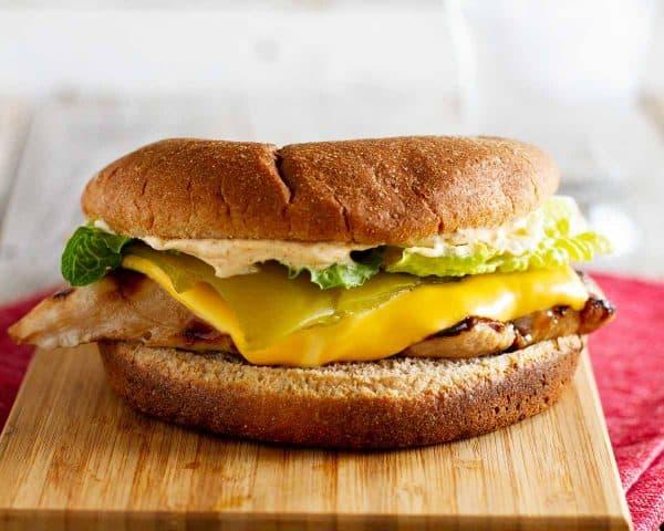 Carl's Jr Copycat recipe Santa Fe Grilled Chicken Sandwich