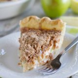 Slice of Sour Cream Apple Pie