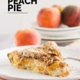 Sour Cream Peach Pie Recipe