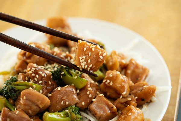 Stir Fry Sesame Chicken With Broccoli Taste And Tell